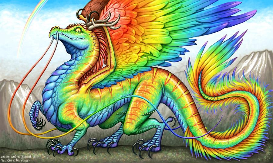 Image - Rainbow dragon...