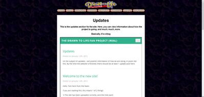 Updates page