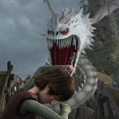 The Screaming Death attacks Hiccup.