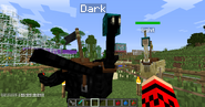 Geared dark ostrich