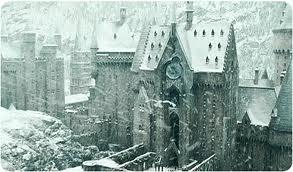 Clock tower snowy