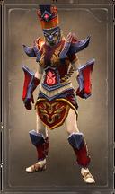 Fiery flame lion skin