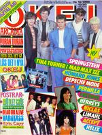 OKEJ Magazine nn 19 1985 SPRINGSTEEN, Swedish Metal Aid, Eric Carr, Duran Duran wikipedia