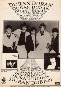 Advert duran duran rio album wikipedia