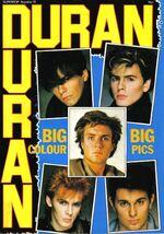 Big big colour pics duran duran poster magazine