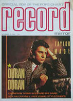 DURAN DURAN RECORD MIRROR MAGAZINE DEC 15 1984 ROGER TAYLOR drummer wikipedia