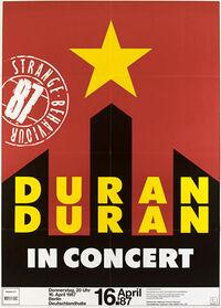 Poster duran duran berlin germany discogs discography tour live dates 16 april 87