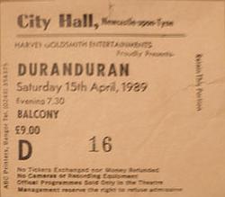 Ticket show duran duran newcastle vinyl discography discogs wikipedia