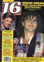 16 magazine november 85 duran duran michael j fox look at sticket stubs discogs wiki