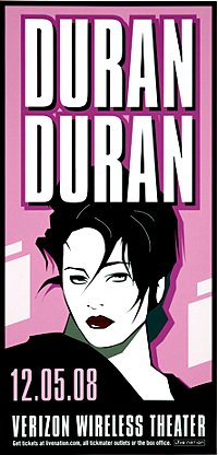 Poster duran duran verizon wireless theater