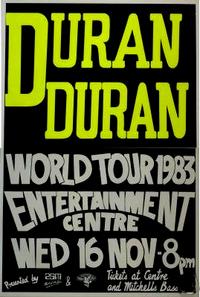 Poster duran duran australia 1983