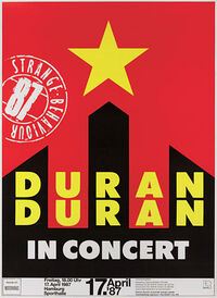Poster Sporthalle, Hamburg, Germany. 1987 duran duran discography discogs wikipedia