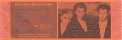 21st April 1987 at RDS Simmonscourt Dublin, Ireland duran duran wikipedia ticket stub