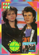 1 DURAN DURAN Pop Pow 1980s Poster Magazine No 18 With Duran Duran Poster.