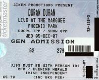 Dublin ticket duran duran a