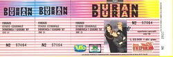 Look at stubs ticket duran duran Stadio Comunale, Firenze (Florence), Italy concert 1987