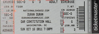 Ticket washinghton dc usa concert show tour dates duran duran discogs wiki