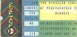 Washington DC (USA), Merriweather Post Pavillion blondie ticket stub wikipedia duran duran
