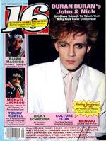 16 magazine music wikipedia Sept 1984 DURAN DURAN Menudo MICHAEL JACKSON Harrison Ford