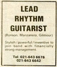 Andy taylor advert 2