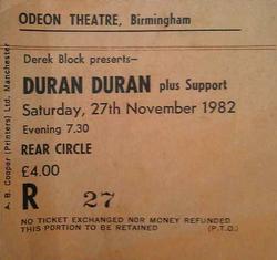 Odeon, Birmingham wikipedia theatre ticket duran duran city of culture 2013