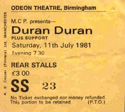 TICKET 1981-07-11 ticket
