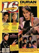16 Teen Magazine December 1984 Duran Macchio Springfield Menudo Michael Jackson 16 december 1984 wikipedia