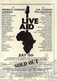 Live aid poster duran duran