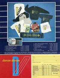 ORDER FORM 1983 DURAN DURAN WIKIPEDIA FAN CLUB 1