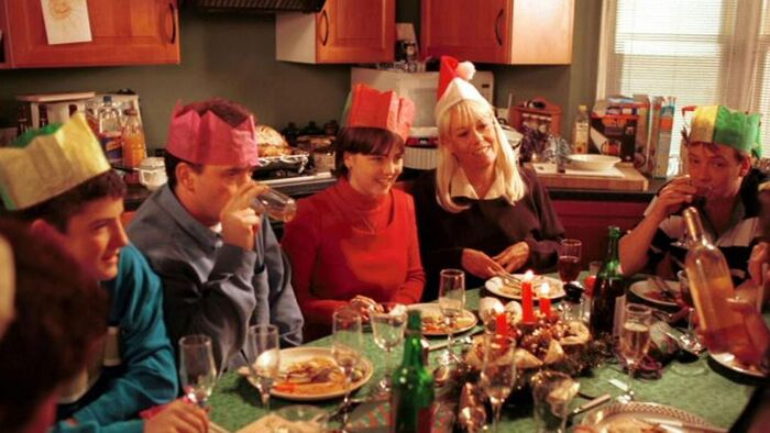 Cindy returns durring Beale and Fowler Christmas Dinner (1997)
