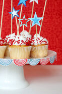 4th cakeplate bunting