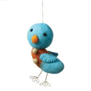Felted-wool-bird