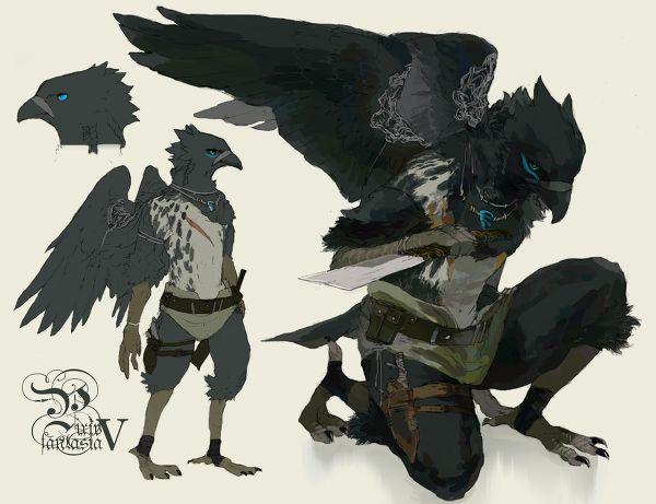raven crow half man - photo #15