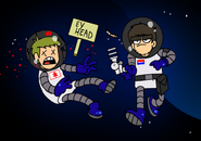 Hellucard and Paul in Space Face Part 1