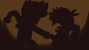Trick or Threat - Shadow figure of Edd & Matt