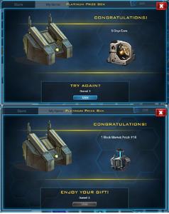 2 Platinum Prize Boxes
