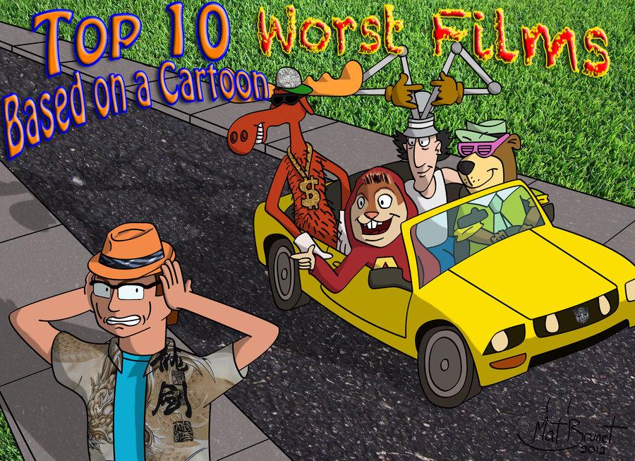 top 10 worst films based on a cartoon