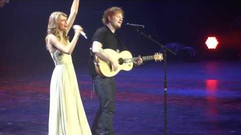 "Taylor Swift & Ed Sheeran ""I See Fire"" - Berlin, O2 World"