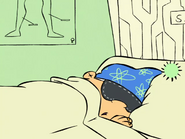 Edd Sleeping Wearing a Ski Hat
