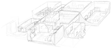 3D drawing of the inmate section
