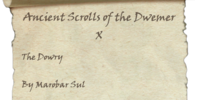 Ancient Scrolls of the Dwemer X