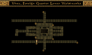 Vivec, Foreign Quarter, Lower Waistworks, Miun-Gei Enchanter Waistworks Map Morrowind