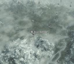 Western watchtower map