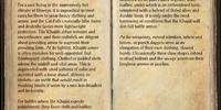 Khajiiti Arms and Armor