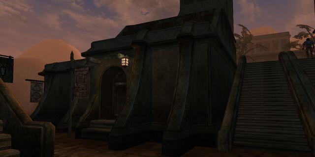 File:TES3 Morrowind - Balmora - Dorisa Darval Bookseller exterior.jpg
