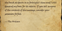 The Artisan's Letters