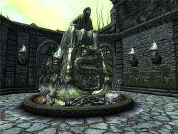 Crucible Statue