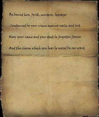 Jyrik's Writ of Sealing