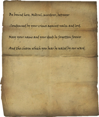 Mikrul's Writ of Sealing