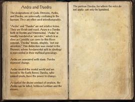 Aedra and Daedra, as seen in The Elder Scrolls Online